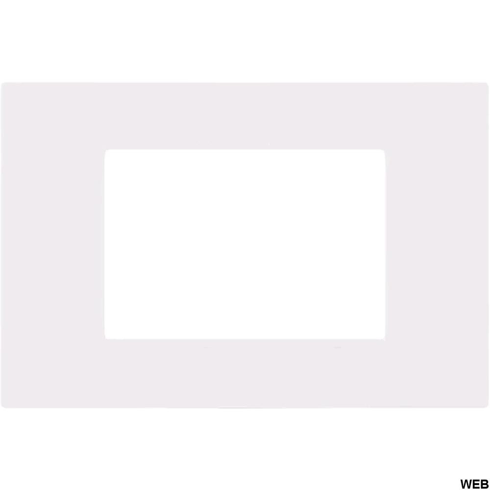 Placca 3P Tecnopolimero 12x8cm Bianco compatibile Vimar EL1974