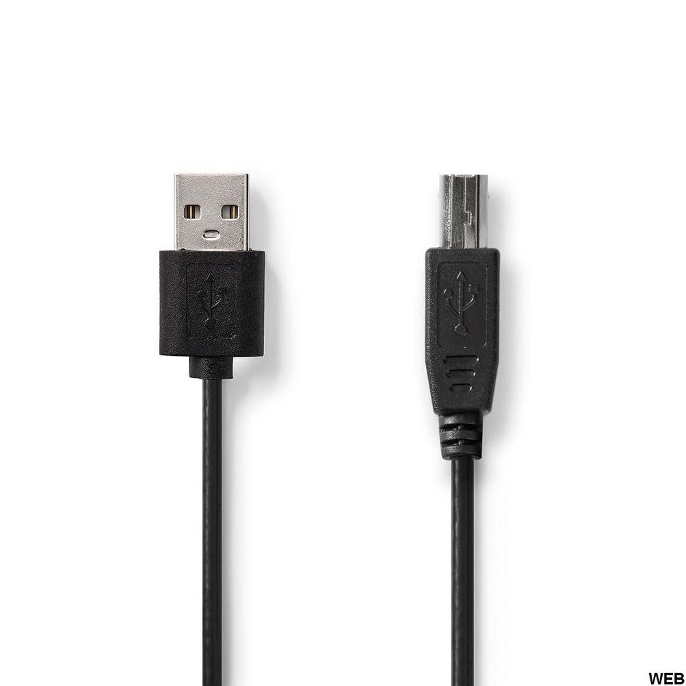 Cavo USB 2.0 A Maschio - USB-B Maschio 2m Nero ND145 Brand:E[Nedis]
