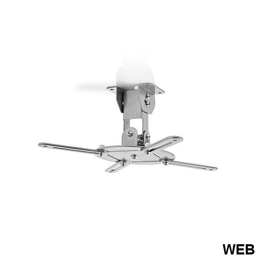 Supporto per proiettore da soffitto | Girevole a 360° | Max 10 kg | Distanza dal soffitto di 130 mm | Grigio ND146 Brand:E[Nedis]