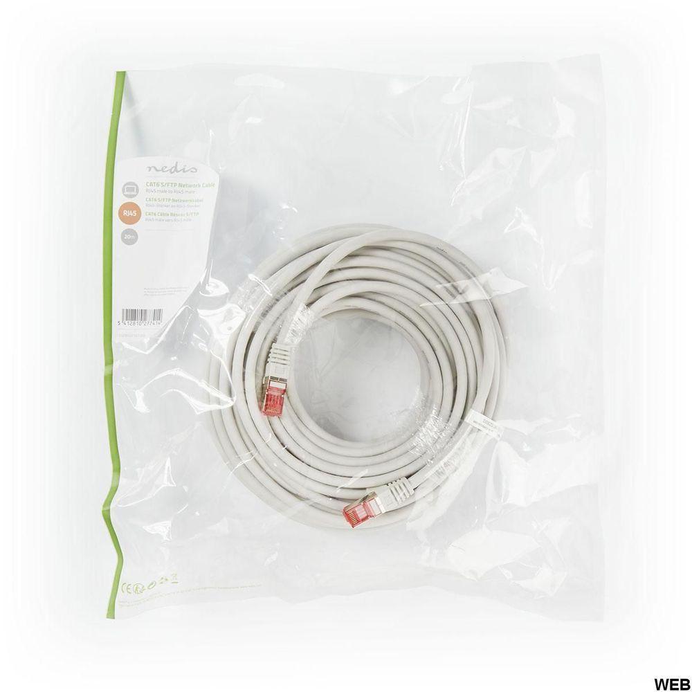 Cavo di rete Cat 6 S/FTP RJ45 maschio 20 m Grigio ND203 Brand:E[Nedis]