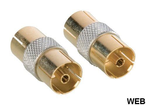 Adattatore Coassiale Femmina Coax (IEC) - Femmina Coax (IEC) Oro ND2236 HQ