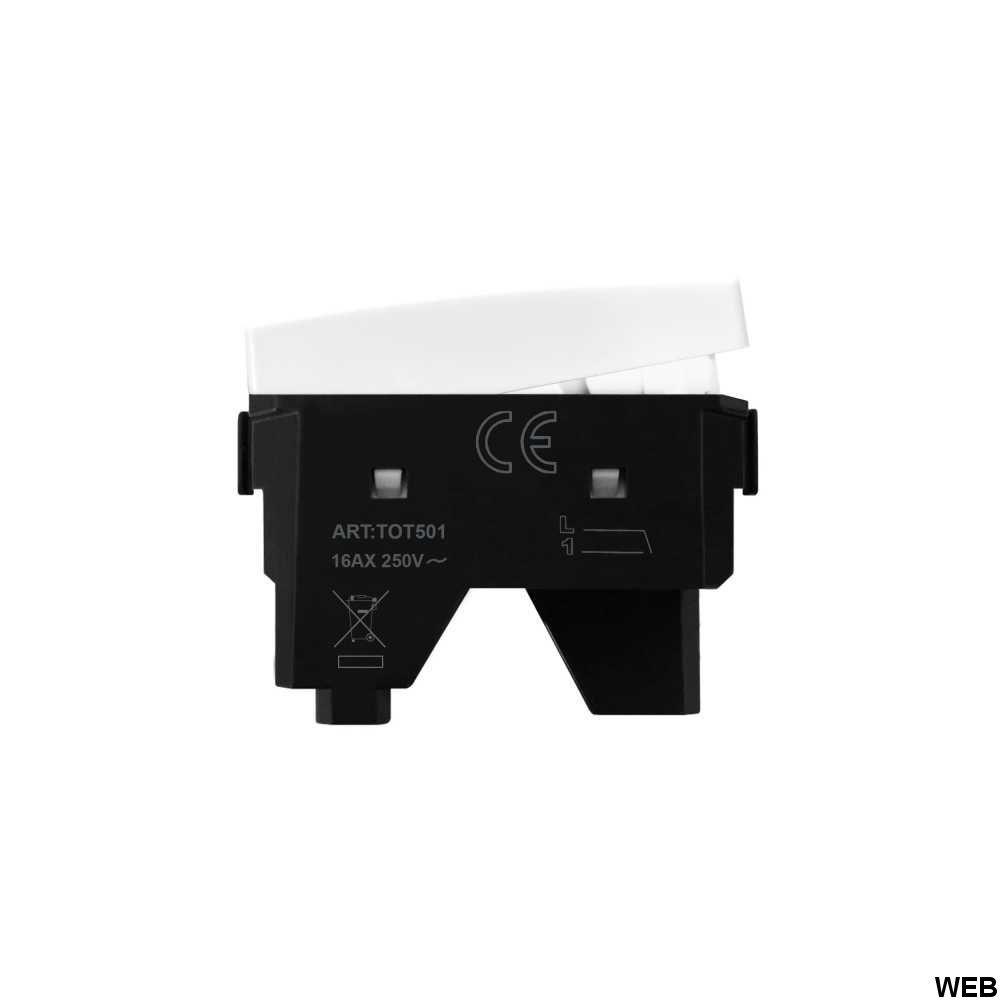 Interruttore Bianco 1P 16AX 250V Compatibile Matix EL2042