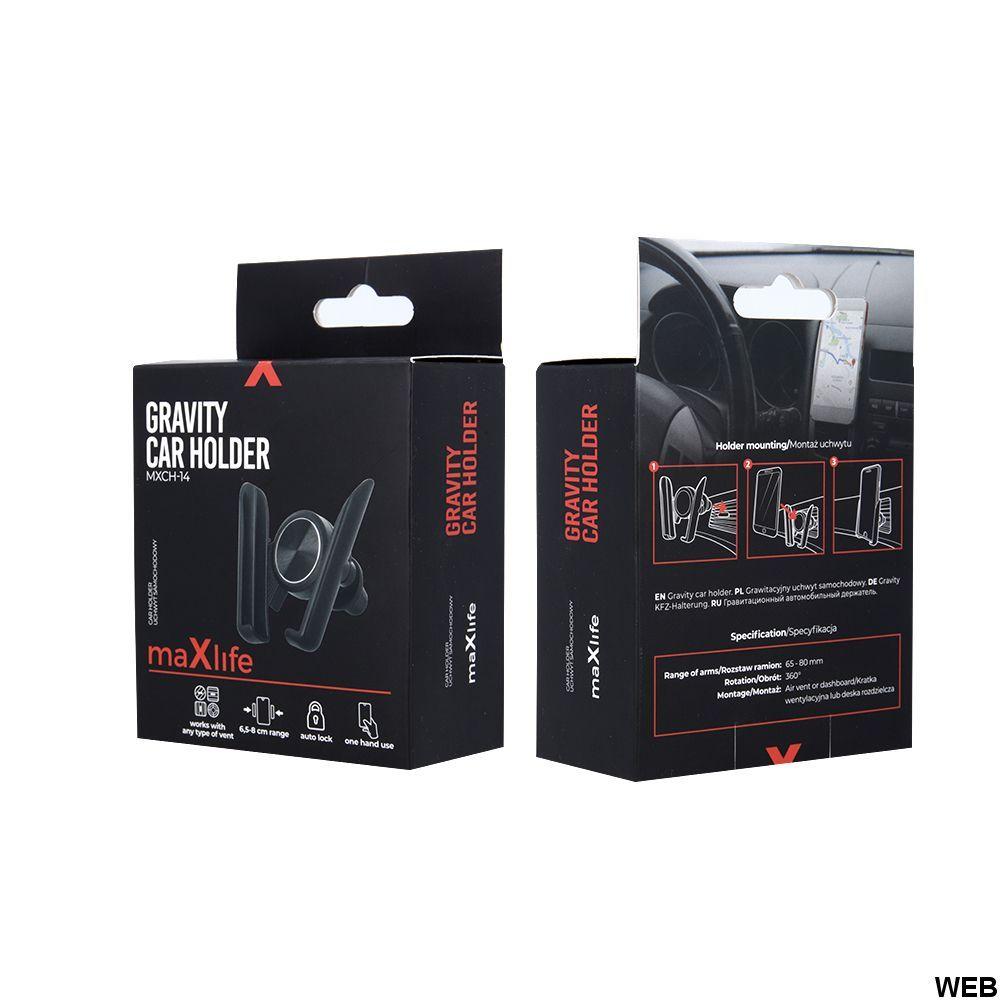 Supporto smartphone per auto bocchette aria - MXCH-14 MOB823 Maxlife