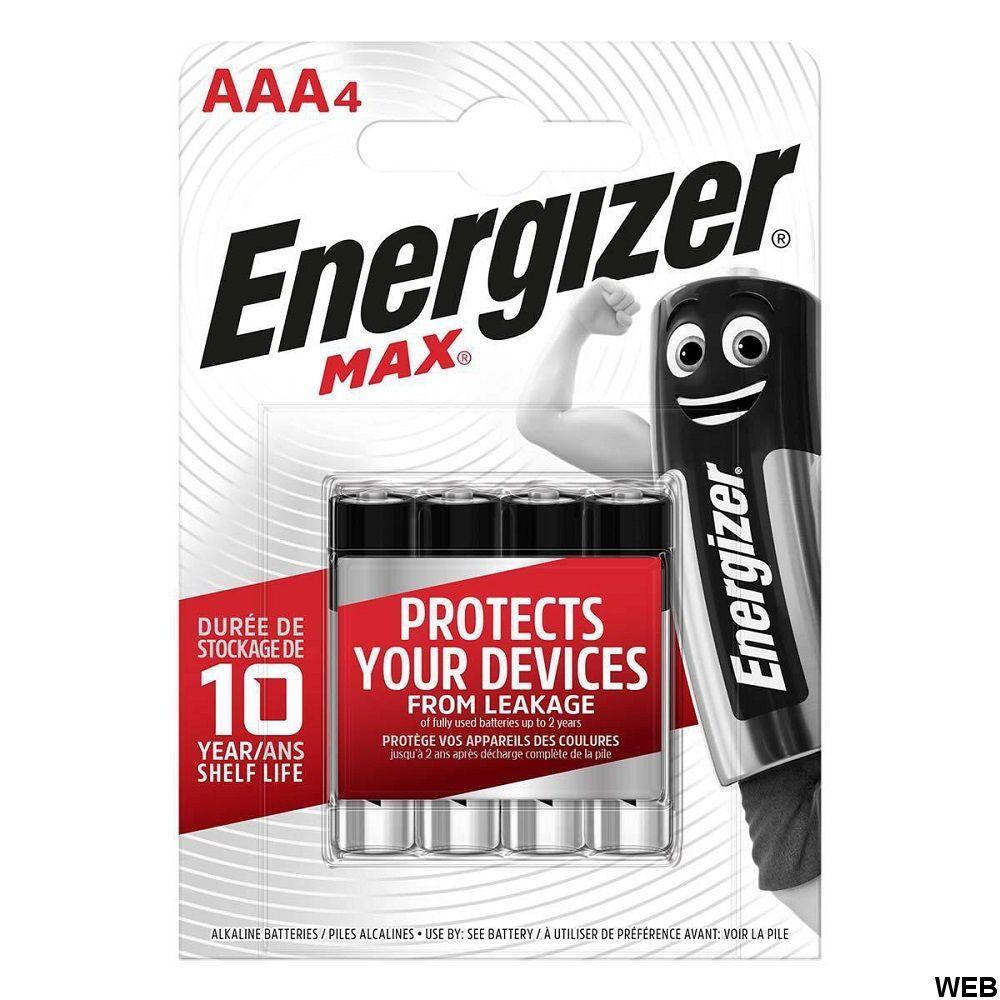 Batterie Alcaline AAA 1.5 V Max 4-Blister ND4786 Energizer