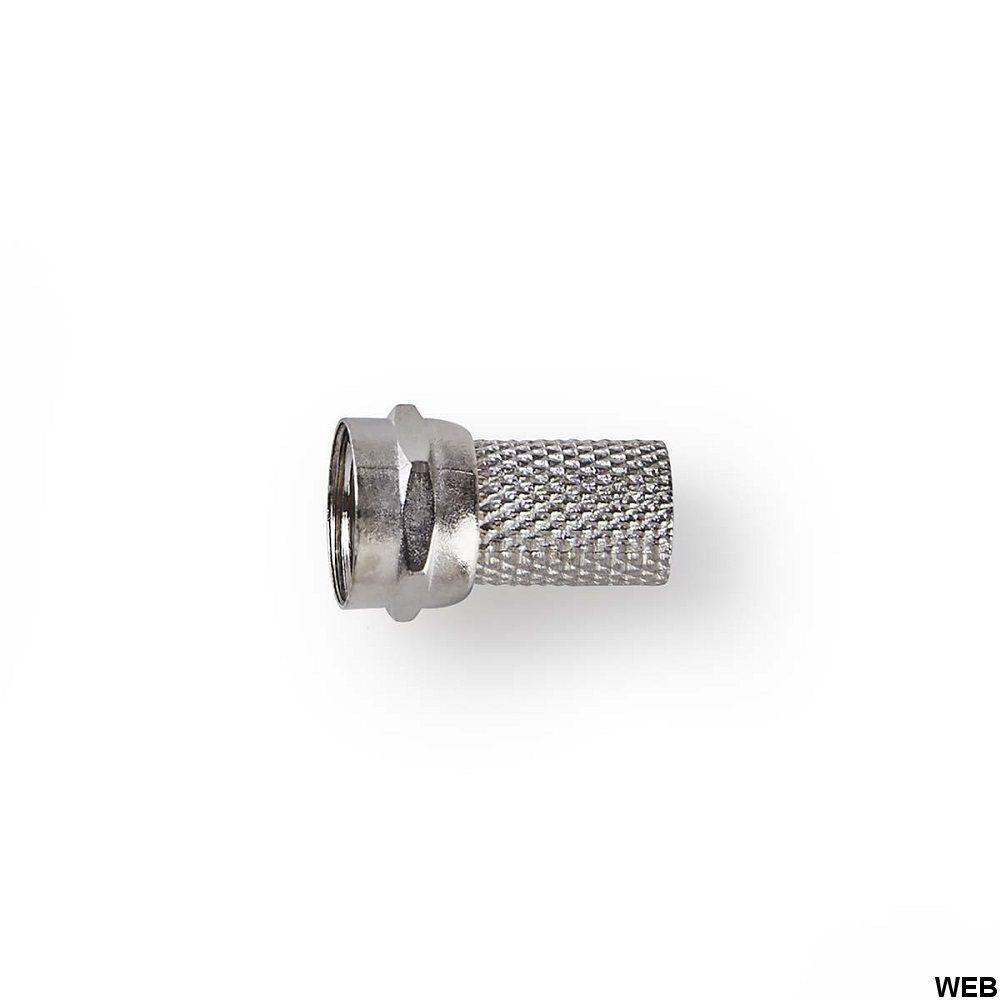 Connettore F Maschio Per Cavi Coassiali da 6,4mm confezione da 25 pezzi ND5020 Nedis