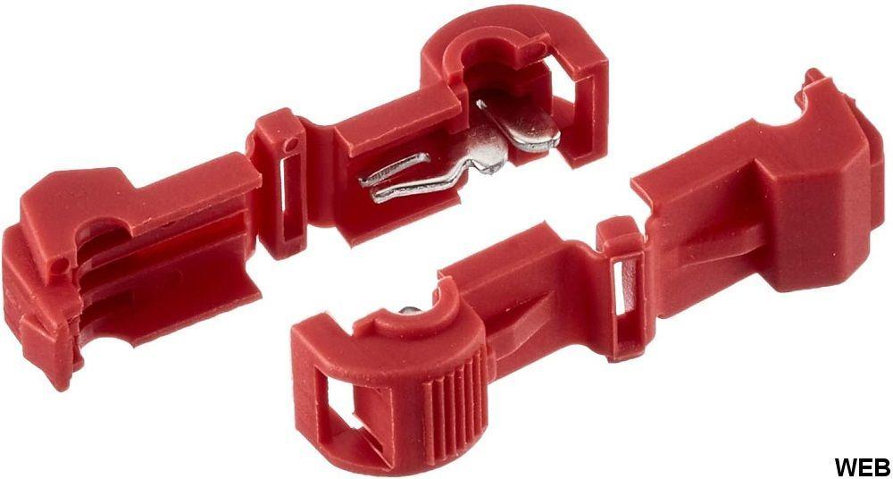 Morsetto di collegamento per filo a T rosso 100pz EL2260 FATO