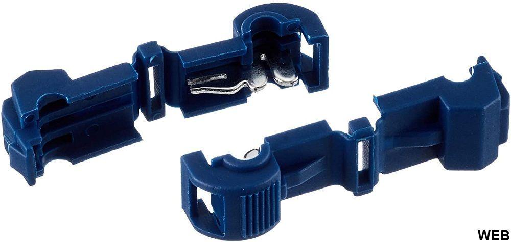 Morsetto di collegamento per filo a T  blu 100pz EL2268 FATO