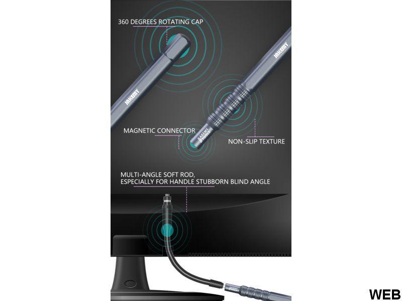 Set cacciavite e punte con custodia magnetica e prolunga flessibile - 50in1 L617