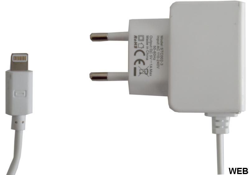 Alimentatore caricabatterie USB Lightning 1.5m bianco WB830