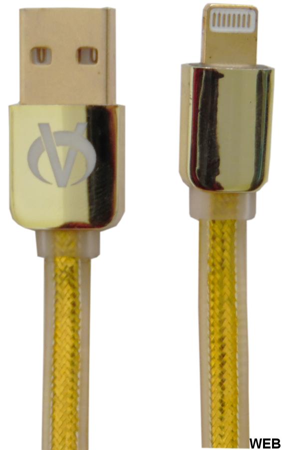 Cavo per sincronizzazione e ricarica USB Lightining 1m piatto dorato WB860