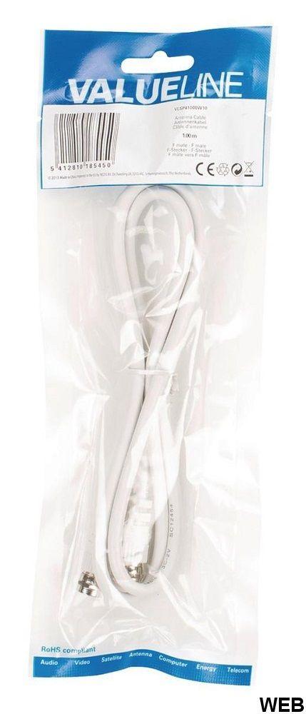 Cavo coassiale F maschio-coassiale maschio 1m ND6810