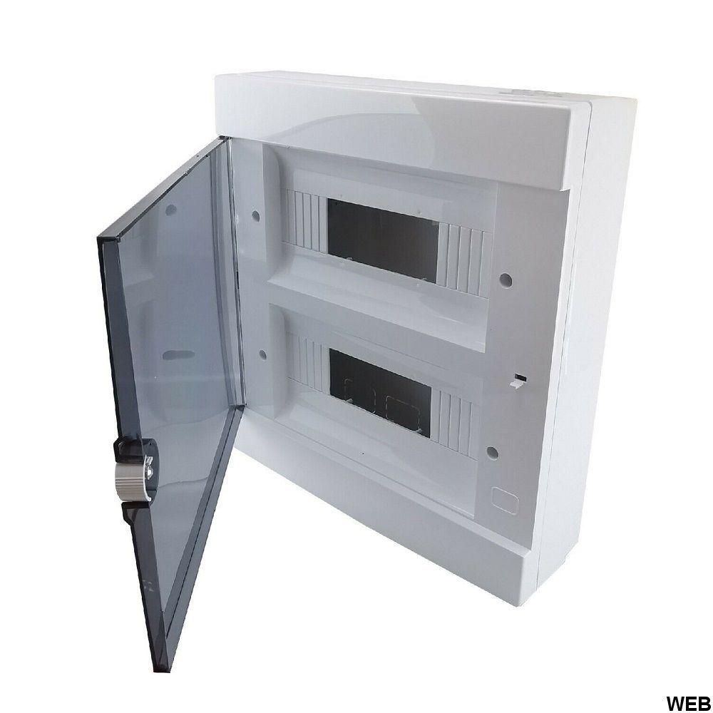 Electric panel external white enclosure 24 modules IP40 Elmark EL2412