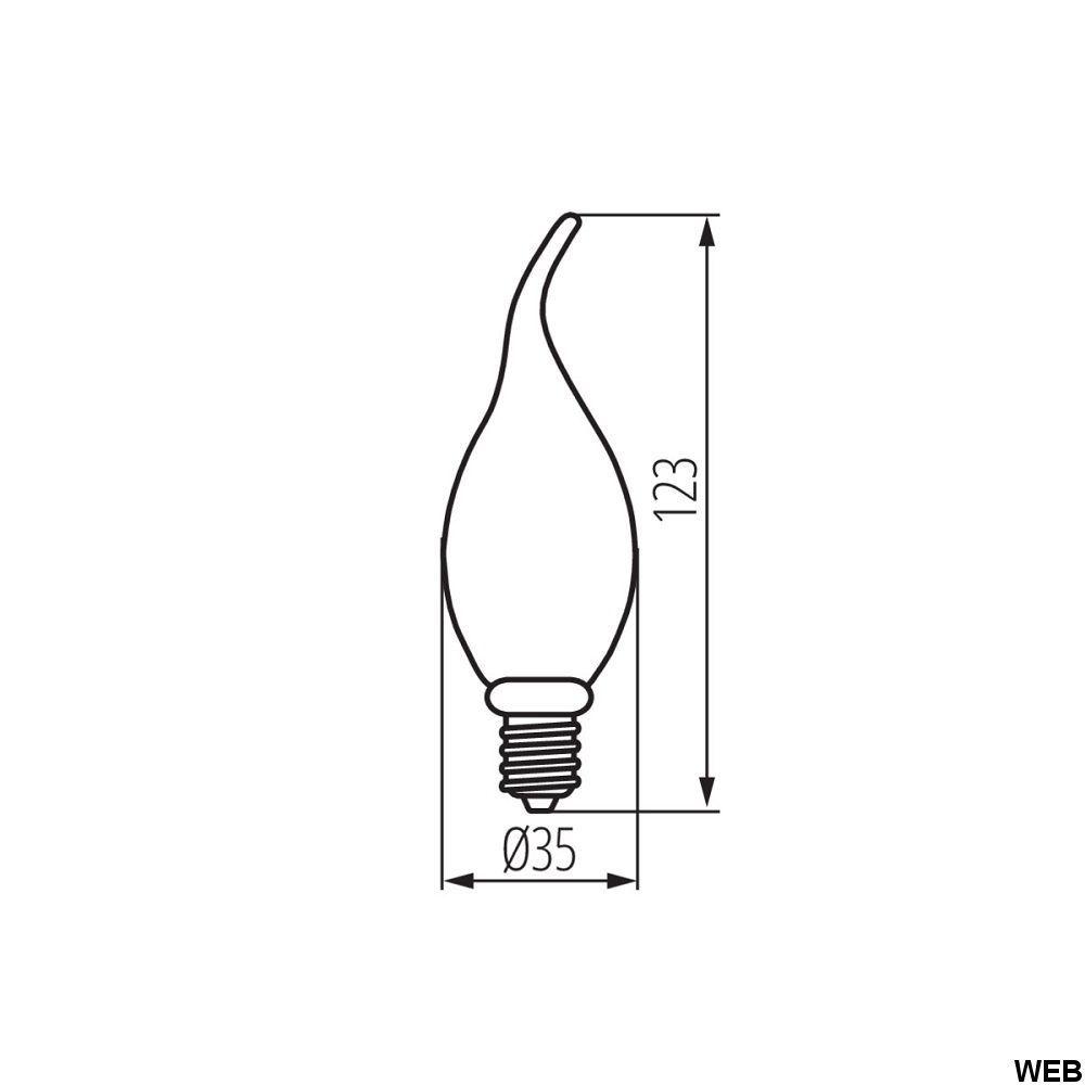 Led bulb XLED C35T SW 1800k 2.5W 135lm E14 Kanlux KA1164 2.5W