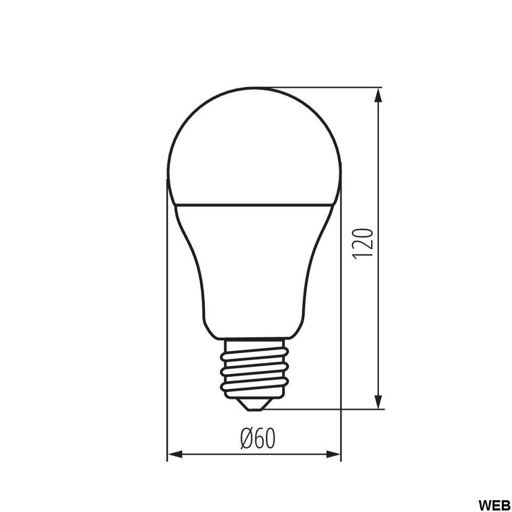 Led bulb RAPID E27 14W 1520lm 4000k Kanlux KA1066 14W
