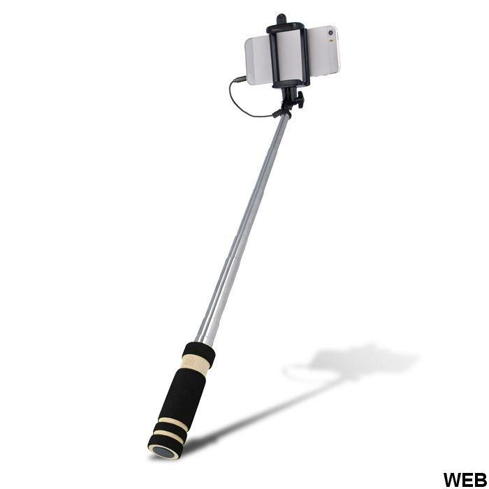 Selfie stick con pulsante e jack audio 3.5mm Setty MOB1265