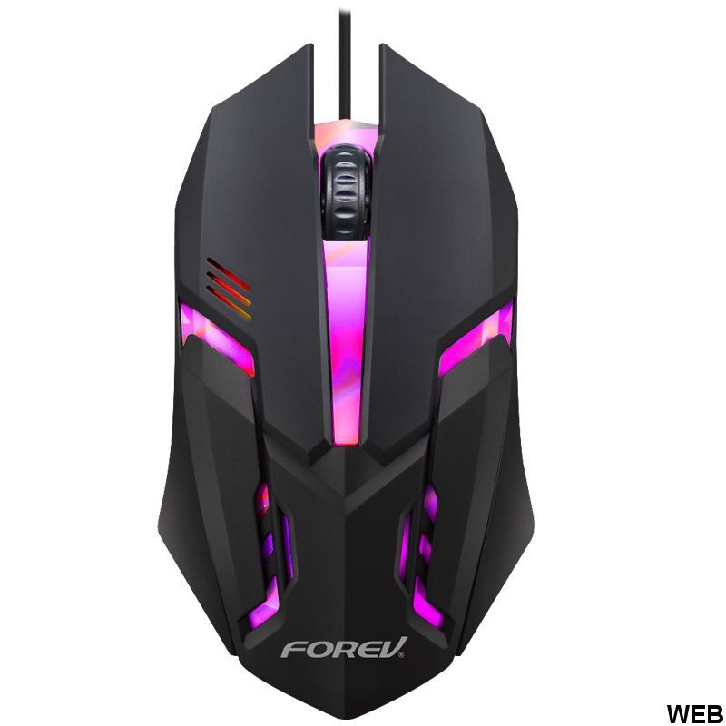 800DPI USB mouse 3 buttons with LED lighting WB1965