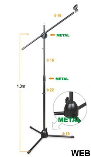 Microphone boom stand, with tripod base MSA-771 MIC124