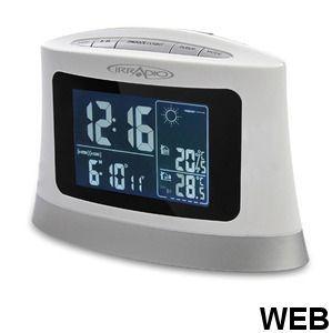 FM PLL clock radio with barometric station and USB / Card reader 214600035