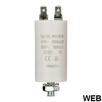2.5uf / 450 v + Aarde capacitor ND1225 Fixapart