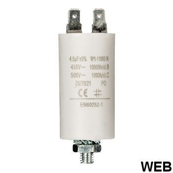 4.5uf / 450 v + Aarde capacitor ND1240 Fixapart