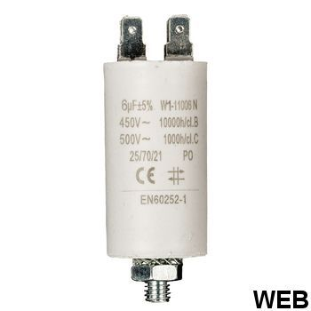 6.0uf / 450 v + Aarde capacitor ND1245 Fixapart