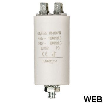 6.3uf / 450 v + Aarde capacitor ND1250 Fixapart