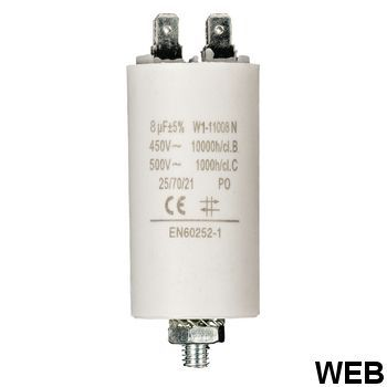 8.0uf / 450 v + Aarde capacitor ND1255 Fixapart