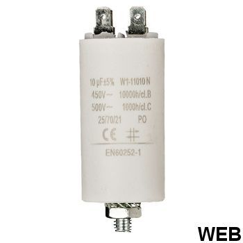 10.0uf / 450 v + Aarde capacitor ND1260 Fixapart