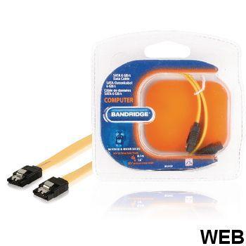 SATA Cable 6 Gb / s 7-Pin Female - SATA 7-Pin Female - 0.50 m Yellow A1056 Bandridge