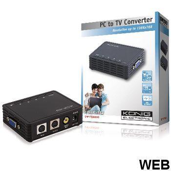 VGA - VGA / S-Video / RCA Converter Black CMP-TELVIEW3 König