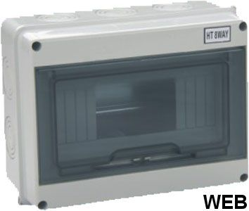 Wall Switchboard 8 modules with transparent door - small EL170 FATO