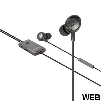 ANC (Active Noise Canceling) Headset 3.5 mm Earphone with Built-in Microphone Cable 1.2 m Anthracite / Black SWANCHS100GY Sweex