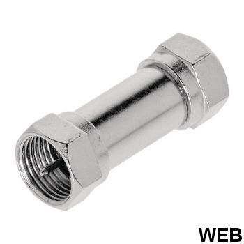 FF Male Coaxial Adapter - F Male Silver ND1570 Valueline