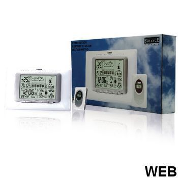 Indoor and Outdoor White Weather Station 865823 Balance