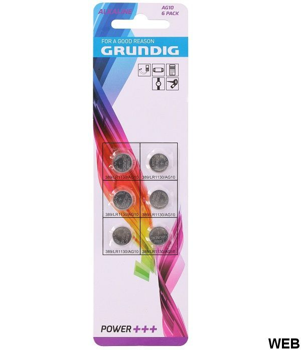 Grundig AG10 button batteries - Pack of 6 pieces ED132 Grundig