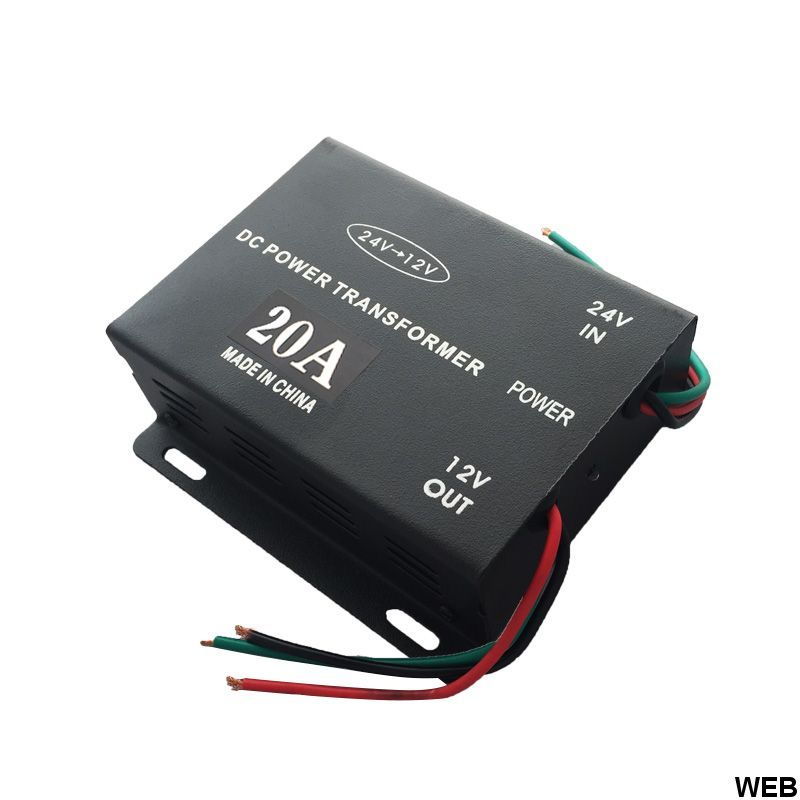 Voltage reducer from 24V to 12V 20A T498