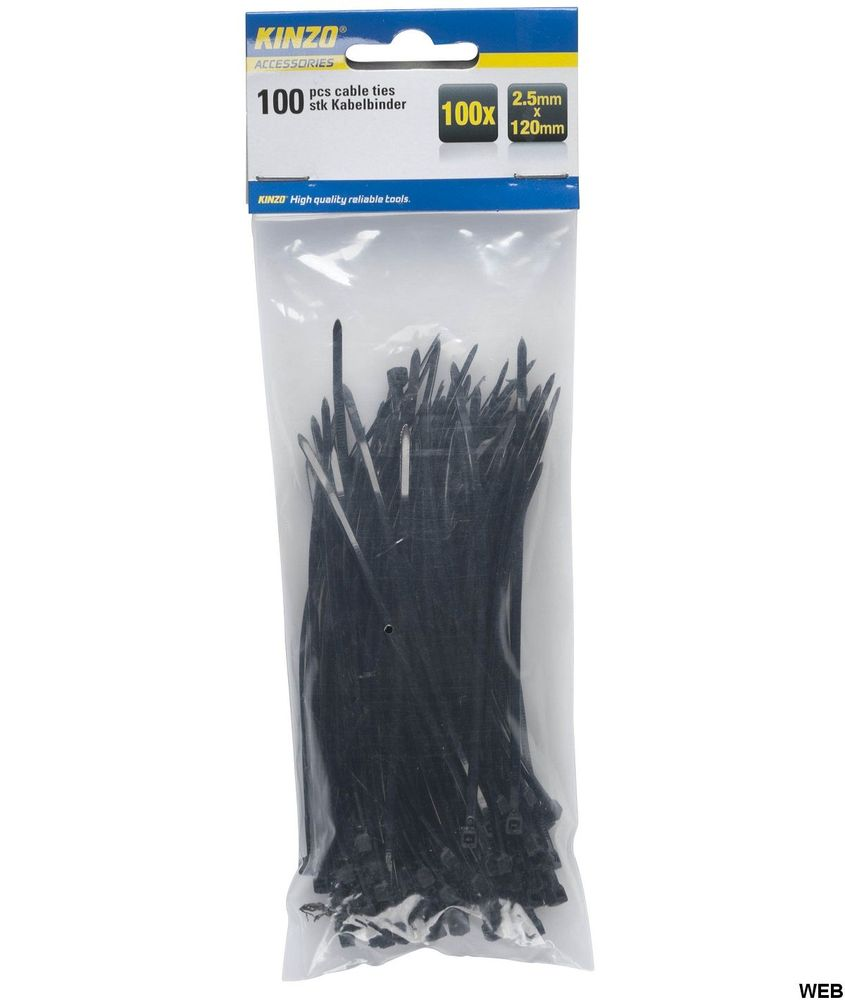 Kinzo cable ties 2.5x120mm - Pack of 100 pieces ED216 Kinzo