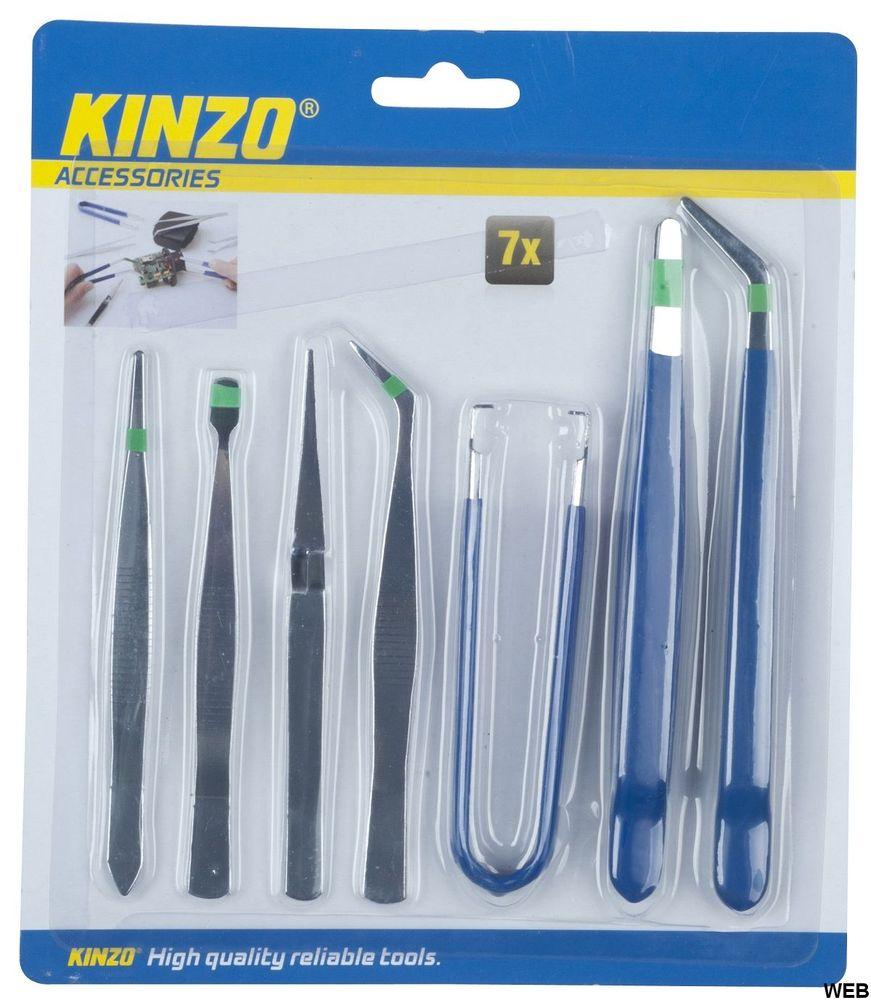Set of 7 Kinzo tweezers ED218 Kinzo