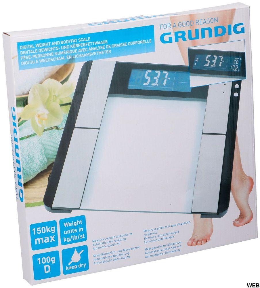 Grundig 33x32x2.2cm bathroom scale ED490 Grundig