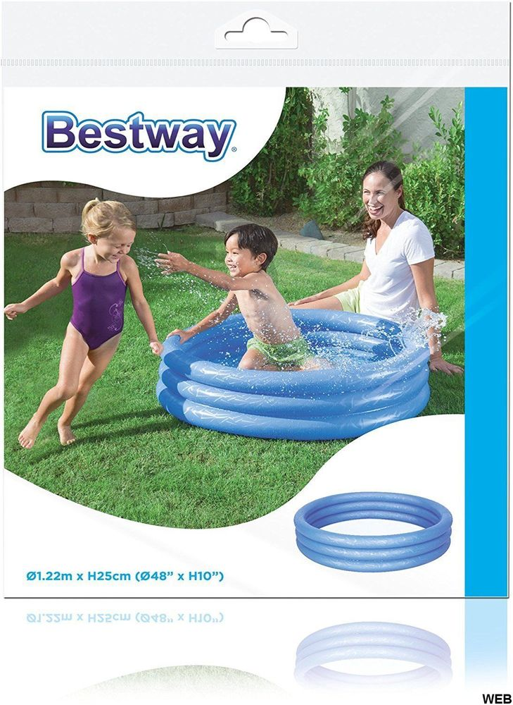 Swimming pool 3 rings 122x25cm Bestway - Various colors ED538 Bestway