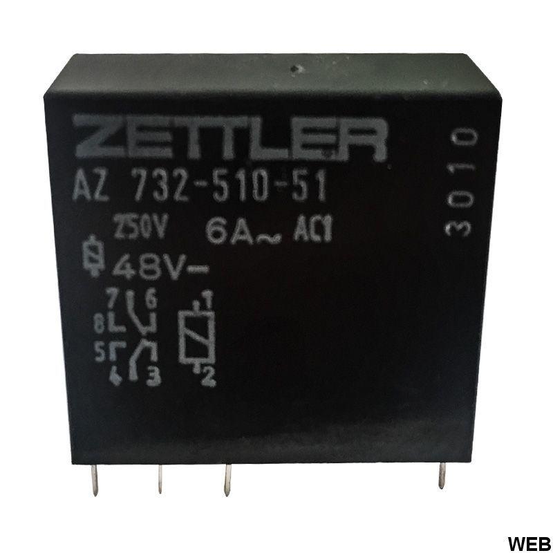 Relay 48V DPDT - AZ732-510-51 - ZETTLER EL197