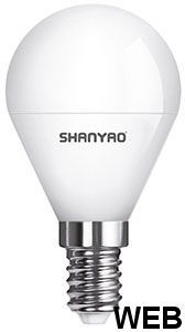 LED lamp G45 5W E14 base - warm light - LUNA SERIES 5142 Shanyao