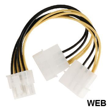 Internal Power Cable 8-Pin Env Male - 2x Molex Male 0.15 m ND2470 Valueline