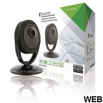 HD IP Fixed Camera for Interior 1280x720 Black SAS-IPCAM200B König