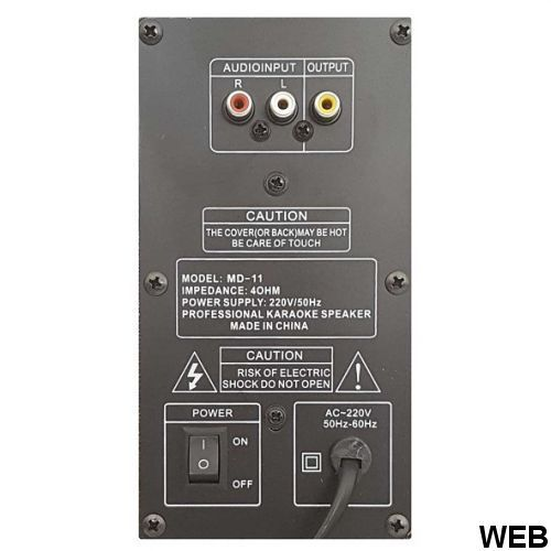 Coppia Casse attive BLUETOOTH + LED + USB-SD MD-11 WEB